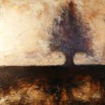 Solus - Techniques mixtes sur toile - 61 x 61 cm