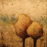 Sérénité 3 - Techniques mixtes sur toile - 31 x 26 cm