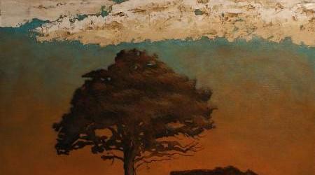 Aube nouvelle - Techniques mixtes sur toile - 61 x 61 cm