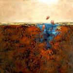 The color of my soul 2 - Techniques mixtes sur toile - 61 x 61 cm (24 x 24 pouces)