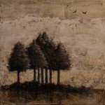 Vers la quiétude des Sept - Techniques mixtes sur toile - 25 x 25 cm