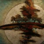 Harvest Moon - Techniques mixtes sur toile - 91 x 122 cm