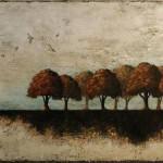Oasis - Techniques mixtes sur toile - 38 x 76 cm
