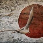 Envol vers Mars, no.2 - Techniques mixtes sur toile - 31 x 91 cm- Vendu